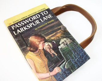 Book Purse Nancy Drew Password to Larkspur Lane Book Handbag Upcycled Book Bag Gift Idea