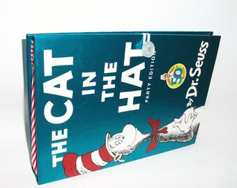 Book Purse Dr. Seuss Cat in the Hat Clutch Handbag Upcycled Book Bag