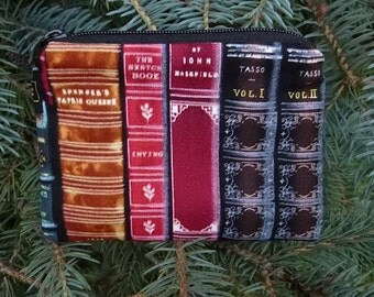 Books coin purse, gift card pouch, credit card pouch, Classic Books, The Raven