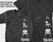 SALE! Matching Father Son TShirts, Matching Daddy and Daughter, Dad and Baby Matching, Eames Chair, Palm Springs, Gift for Dad