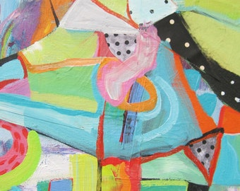 Original painting by Michelle Daisley Moffitt....Kite Flying