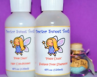 PIXIE DUST Argan Oil Shampoo & Conditioner Set (Sulfate and Paraben Free)