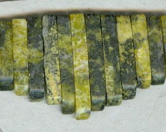 Yellow Turquoise Mini Cleopatra Collar Fan 13pc Bead Set M1