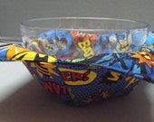 Microwave Bowl Cozy or Potholder Dark Knight Fabric