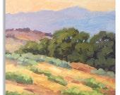 SUMMER ART FAIR - 12x10-inch Original Landscape Oil Painting by Tom Brown