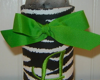 Zebra Water Bottle Coozie