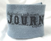 Wrist Cuff Wallet for Runners Eco-friendly Journey of Courage Design