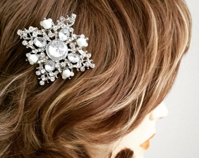 Art Deco Inspired Bridal Hair Comb, ELORA