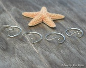 Hawaii Wave Ring, 18 Gauge Sterling Hammered Wave Ring, Nalu, Beach Ring, Surfer Ring, Mermaid Ring, Beachy Hammered Ring, Hammered Ring