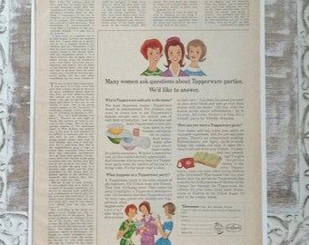 Vintage tupperware ads 1960s magazine, tupperware, wedding, scrapbooking, mixed media, collage, journaling and MoRE.