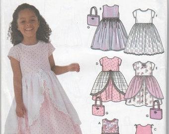 Girls Pattern Dress Purse UNCUT Size 5 6 7 8 Flower Girl Formal