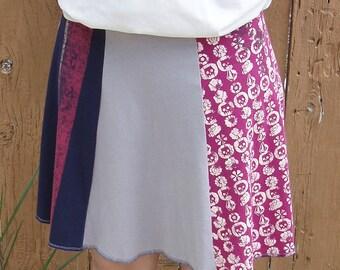 Repurposed Tshirt Skirt Women's Small  ExSmall or Girls 14 16