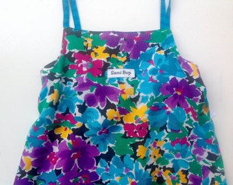 Floral Dress Made From Recycled Fabrics - Size 4