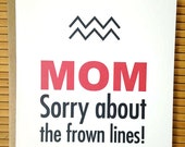Happy Birthday Mom Card - Funny Mothers Birthday Card - Mom Greeting Card - Mothers Birthday Card - Birthday Card For Mom