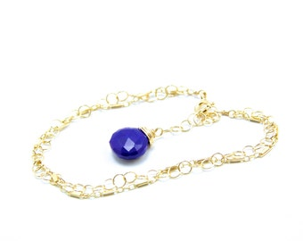 Dani - Lapis Lazuli and Gold Filled Bracelet