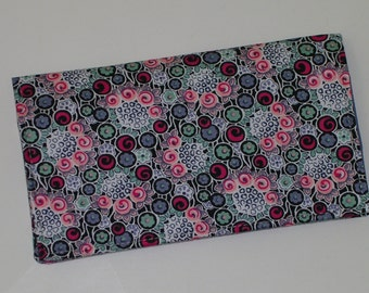 SALE Checkbook Cover for Duplicate Checks with Pocket Flap (cotton fabric)