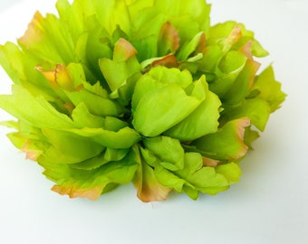 EXTRA LARGE Bright Avocado Green Peony - 7 inches -- Artificial Flower - ITEM 0739