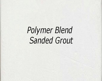 Bright WHITE 2 Pounds Mosaic Tile Grout Sanded Polymer Fortified for Home Projects - Just Add Water