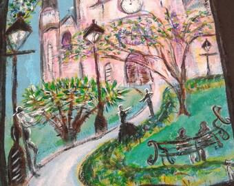 Love in Jackson Square original painting