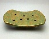Green Variegated Soap Dish