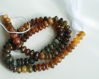 Half or Full Strand, Natural Petro Tourmaline Rondelle Beads, 4x3MM