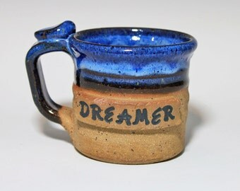 Dreamer cup, small mug, cup for kids, handmade pottery,  ready to ship