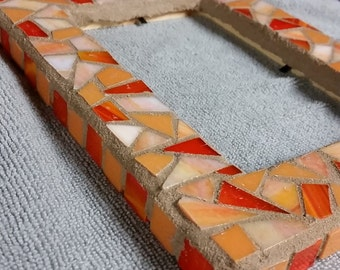 Orange Mosaic Frame