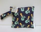 Extra Small Wet Bag - Wet Bag - 8 X 8 - Mermaids