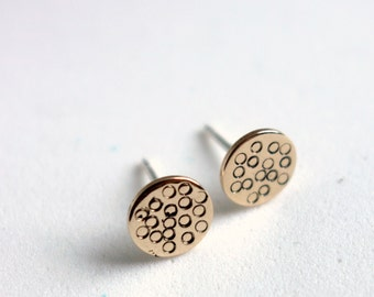 Freckle Studs- 14k Gold-fill Stamped Star Studs