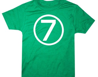 Kids CIRCLE Seventh Birthday T-shirt - Green
