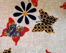 Very 70s medium-weight fabric with butterflies