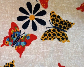 Very 70s medium-weight fabric with butterflies