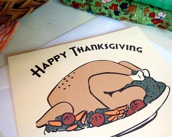 Print and Color Thanksgiving Cards
