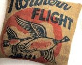 Vintage Burlap Pillow Sham