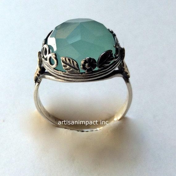 silver engagement ring jade ring boho ring gemstone by. Black Bedroom Furniture Sets. Home Design Ideas