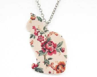 Rose Floral Cat Necklace