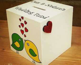 Lovebirds Wedding Fund Money Box