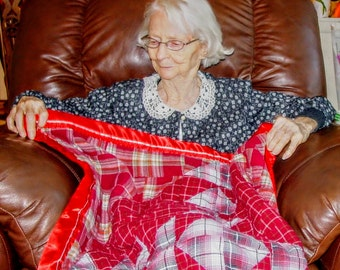 Lap blanket, throw, minky:  30x30 inch lap size.  Custom, sumptuous and soothing minky provides touch therapy.