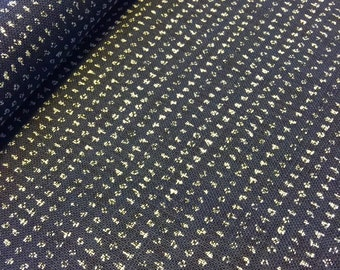 "Sevenberry rustic tiny dot ""kasuri"" style navy indigo blue Japanese cotton fabric"