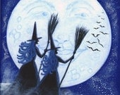 Halloween Art  Print Titled Conjuring Constellations