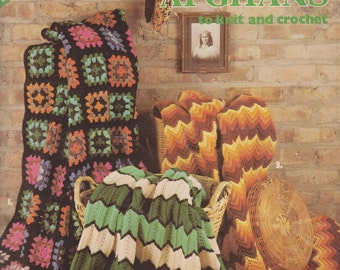 Granny Square and other Classic Afghans to Knit or Crochet Pattern-PDF Pattern