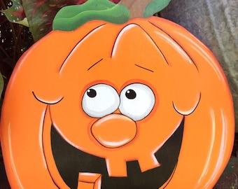 Fall yard art, Halloween yard art, yard decor, pumpkin yard art, Jack o lantern pumpkin yard art.