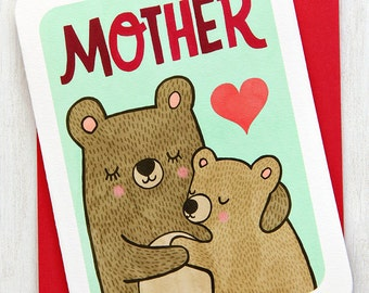 Mother Bear - Mom Mother's Day Card