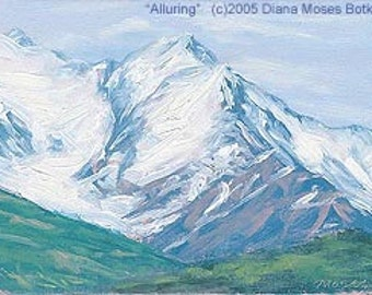 ALLURING -- Original 5x7 inch plein air oil painting, by Diana Moses Botkin