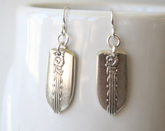 Dainty Spoon Handle Earrings with Sterling Earwires