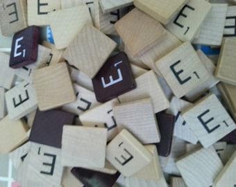 50 scrabble tile letter E for pendants or charms