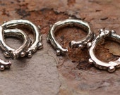 Artisan Dotted Open Jump Rings in Sterling Silver, JR-9