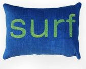 Beach Decor Decorative Pillow / Surf Decor / Surf Pillow / Coastal Decor / Summer / Ocean / Decorative Pillow / Kids Room Decor