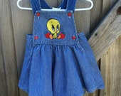 Vintage Tweety Bird Dress 9-12 Months