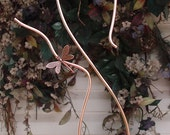 Solid Copper Hook - Garden Hanger - Lawn Yard Decor - Dragonfly - Butterfly - Outdoor Indoor Ornament